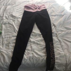 PINK VICTORIAS SECRET leggings yoga black pink